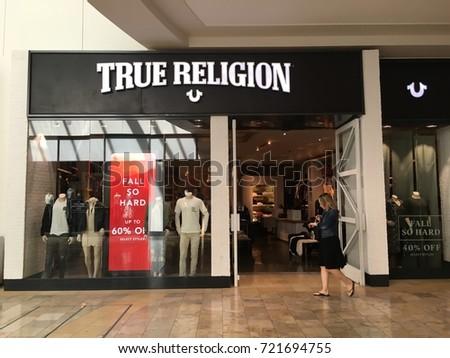 SCOTTSDALE, ARIZONA, SEPT 25, 2017: True Religion Retail Store