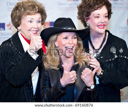 SCOTTSDALE, AZ - JANUARY 15: Actor Cheryl Ladd appears with Childhelp co-founders Yvonne Fedderson and Sara O'Meara at the Childhelp Drive the Dream gala on January 15, 2011 in Scottsdale, Arizona.