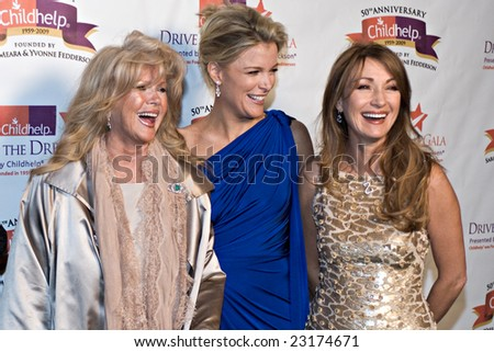 SCOTTSDALE, AZ - JANUARY 10: Connie Stevens, Megyn Kelly, and Jane Seymour at the Childhelp Drive the Dream Gala on January 10, 2009 in Scottsdale, AZ.