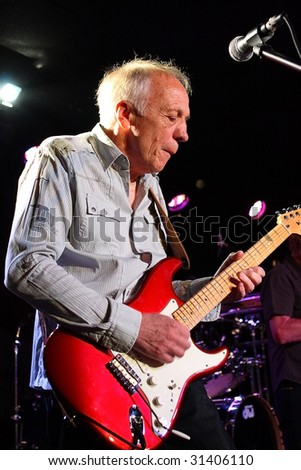 SCOTTSDALE, AZ - MAY 31: Robin Trower, a legendary guitarist performs live for fans at Martini Ranch in Scottsdale, Arizona on May 31, 2009.