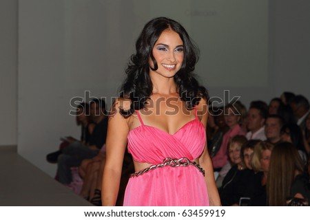 SCOTTSDALE, AZ - OCTOBER 7: Celebrities walk the runway for breast cancer during the Fashionably Pink show at the Phoenix Fashion Week runway shows on October 7, 2010 in Scottsdale, AZ.