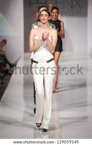 SCOTTSDALE, AZ - OCTOBER 5: Models showcasing designs from the Sew Twisted collection during a runway show at the Phoenix Fashion Week on October 5, 2012  in Scottsdale, Arizona.