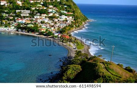 Scottshead Dominica Landscape  Stockfoto ©