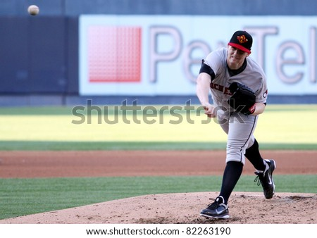 SCRANTON, PA - JULY 9: Rochester Red Wings pitcher Eric Hacker fires a pitch in a game against the Scranton Wilkes Barre Yankees at PNC Field on July 9, 2011 in Scranton, PA.