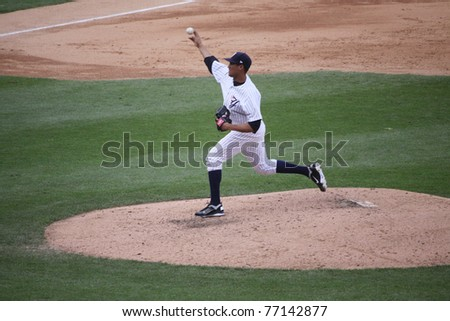 SCRANTON, PA - MAY 8: Scranton Wilkes Barre Yankees pitcher Hector Noesi throws a pitch in a game against the Pawtucket Red Sox at PNC Field on May 8, 2011 in Scranton, PA.