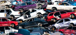Scrap car recycle yard