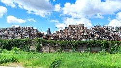 Scrap Cube Metal Recycling Yard