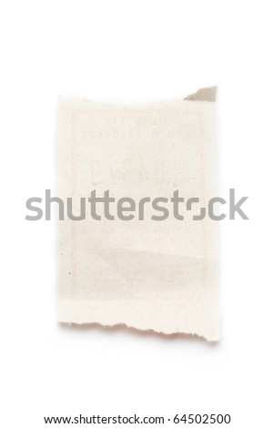 Scrap isolated on white