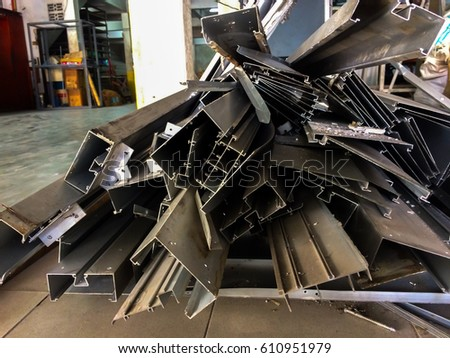 Scrap Metal and Scrap Aluminum Of the building demolition To recycle Concept for building contractor and Local Scrap Metal Recycling & Scrap Metal Hauling. #610951979