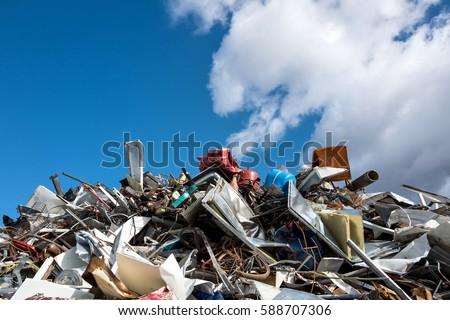 scrap metal at recycling yard