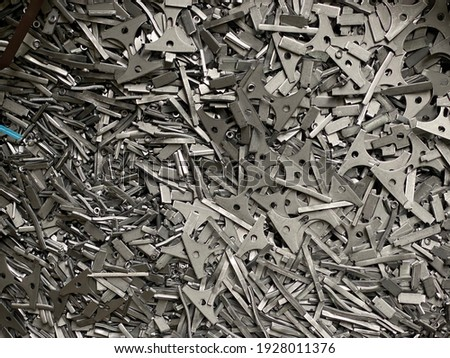 scrap metal ,steels wait for to recycle Foto d'archivio ©