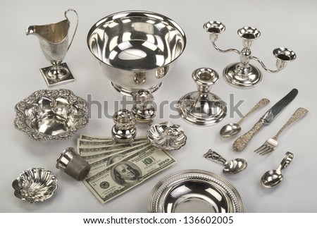 Scrap Silver Time to Sell It for Money. Stock photo ©