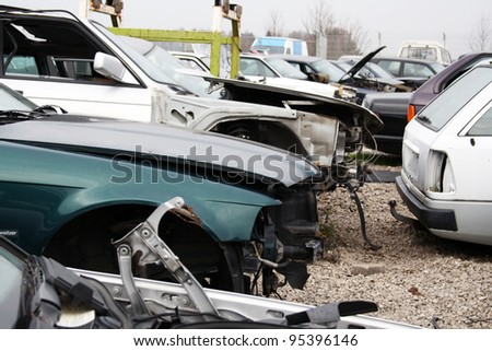 scrap yard for car recycling
