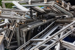 Scrap yard, metal for recycling, acceptance of non-ferrous metal.