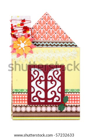 Scrapbook of house-shape
