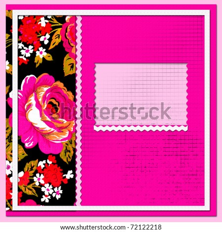 scrapbook page with beautiful flowers