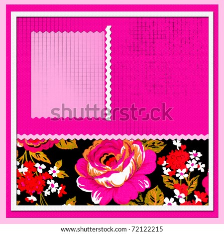scrapbook with beautiful flowers