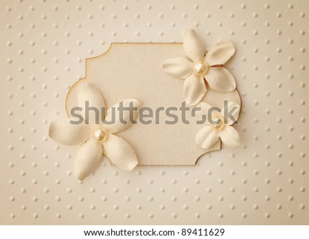 stock photo : scrapbooking background - wedding album cover