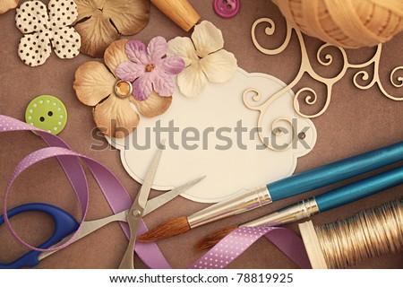 scrapbooking craft materials Сток-фото ©