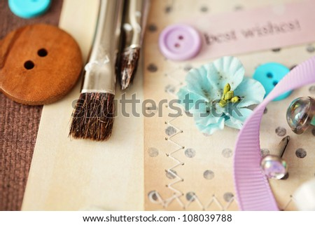 scrapbooking elements - stock photo