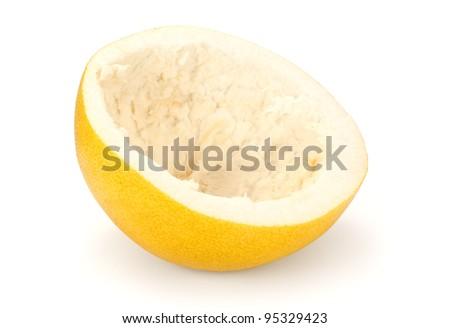 scraped citrus fruit