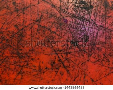 Scratch plastic, scratch red and black texture. #1443866453