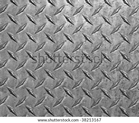 Scratched and dirty diamond plate steel.  Makes a great background.