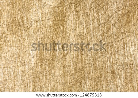 Scratched brushed brass metal plate