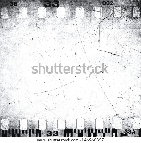 Scratched filmstrip texture