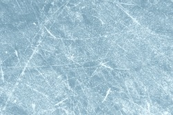 Scratched frozen ice texture with scratches from skates