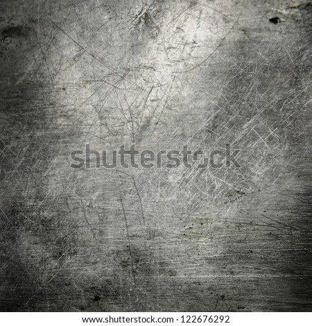 scratched grunge metal plate industrial  ; abstract background