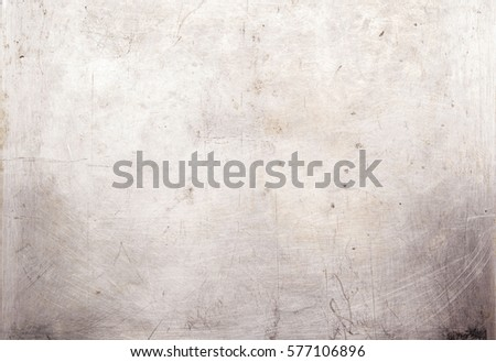 Scratched metal background. Grunge Brushed metal texture. Abstract industrial background