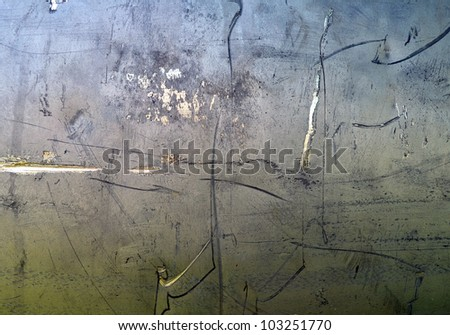 Scratched metal texture, aluminum background