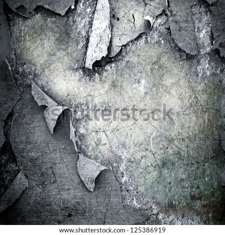 scratched ripped metal plating ; grunge  background