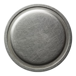 Scratched round metal plate texture