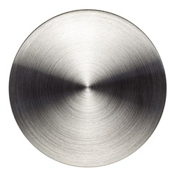 Scratched round metal plate texture, background