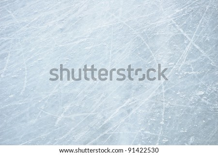 Scratches on the surface of the ice #91422530