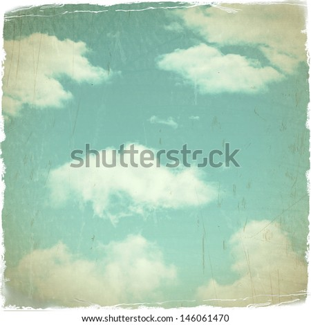 Scratchy Grunge Sky Background