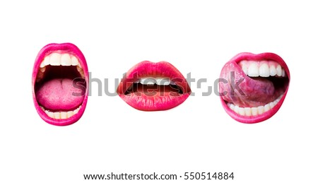 scream  lips mouth  set of...