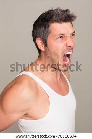 stock photo : screaming male nude beauty. Save to a lightbox ▼