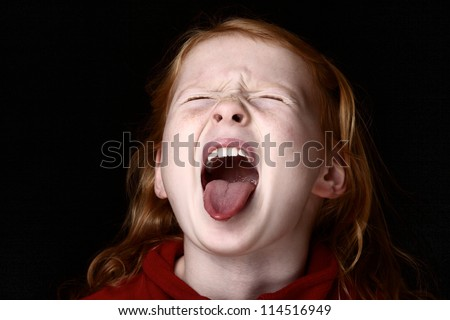 Screaming young girl