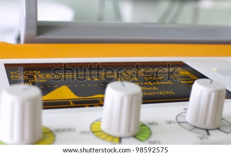 screen of device. Two color screen is visible from the electric device equipped with adjustable handles