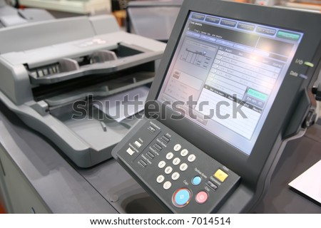 screen of printed equipment