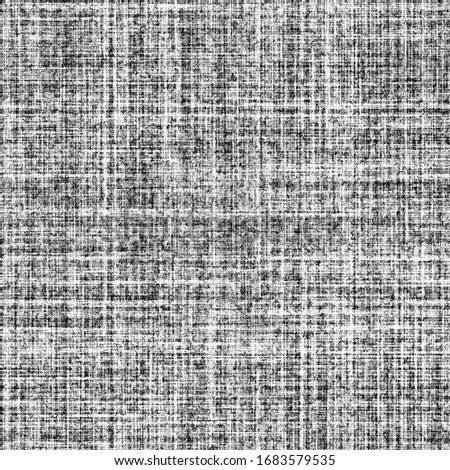 screen tone rough fabric crisscross fibers, crosshatch shading black and white seamless pattern for adding texture to pics and illustrations, nuances to vector graphics, vibrations in flat colors, etc Photo stock ©