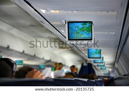 screens inside of aircraft