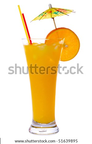 Screw-Driver Cocktail isolated on white