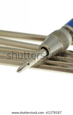 Screw driver isolated on white background