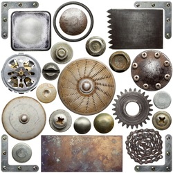 Screw heads, textures and other metal details