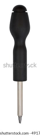 Screwdriver isolated on white background with clipping path - stock photo