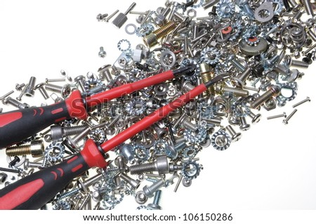 Screwdrivers and mixture screws, bolts, nuts